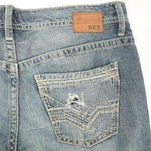Buckle BKE Carter Destroyed Light Wash Jeans 34